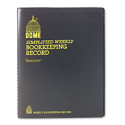 Dome Bookkeeping Record Brown Vinyl Cover 128 Pages 8 12 X 11 Pages 600