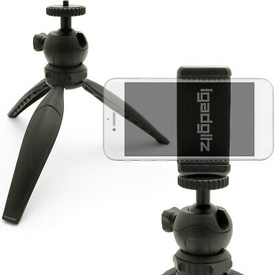 Mini Table Top Tripod Stand with Smartphone Holder Mount Bracket Adapter ()