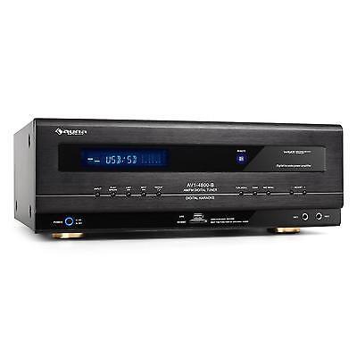 Auna Ricevitore Hi Fi Radio Amplificatore 5.1 1000W Usb Sd Sezione Microfono