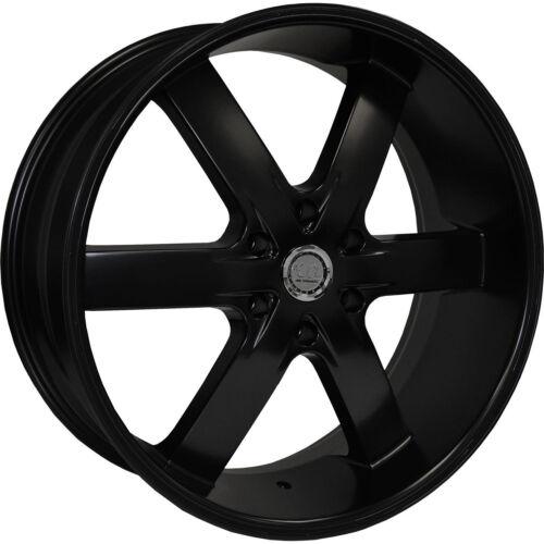 24 Inch U2 55 Black Wheels Rims Fit 5x5 Offset +13