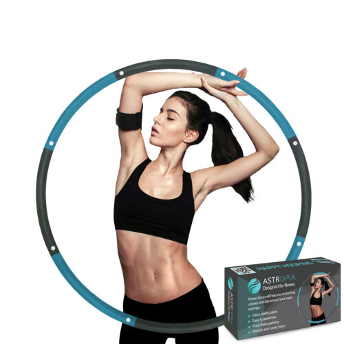 8 Section Collapsible Weighted Hula Hoop Fitness Gym Exercise Workout ABS Padded