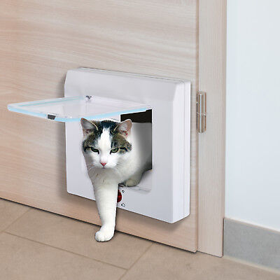 PawHut Katzenklappe Katzentür Tunnel Hundeklappe Hundetür Haustierklapp 4 Wege