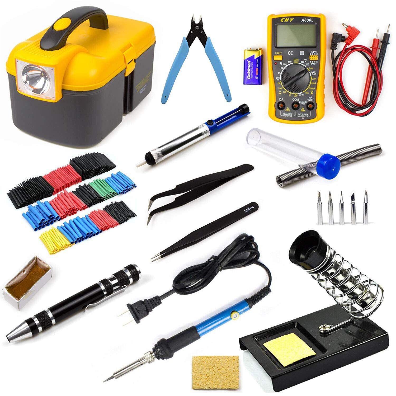 60W Soldering Iron Kit Adjustable Temperature Electrical Wel