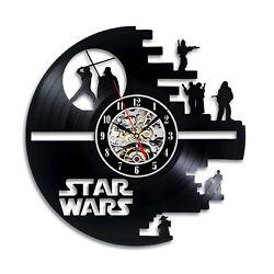 Star Wars Best Gift Wall Clock Vinyl Record Art Decor Retro Home Decor