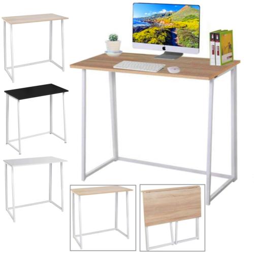 Computertisch Faltbar Tisch Schreibtisch Klappbar für Home Office Arbeitszimmer