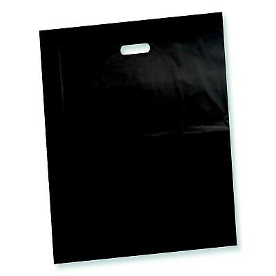 100 Pack 15 X 18 With 2 Mil Thick Black Merchandise Plastic Glossy Retail B...