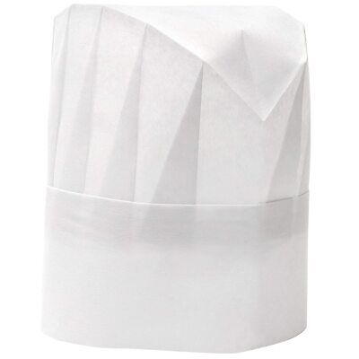 25pcs Professional Disposable White Paper Chef Sushi Hats Wholesale Tiwitiwi