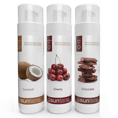 Tanning Mousse Combo - 3 x Suntana Self Tan (scented; light, medium & dark tan) - Dark Tan Combo