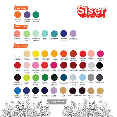 Siser Easyweed 15 X 3 Feet - 3 Sheet Of 15x 12 - Select Up To 3 Colors