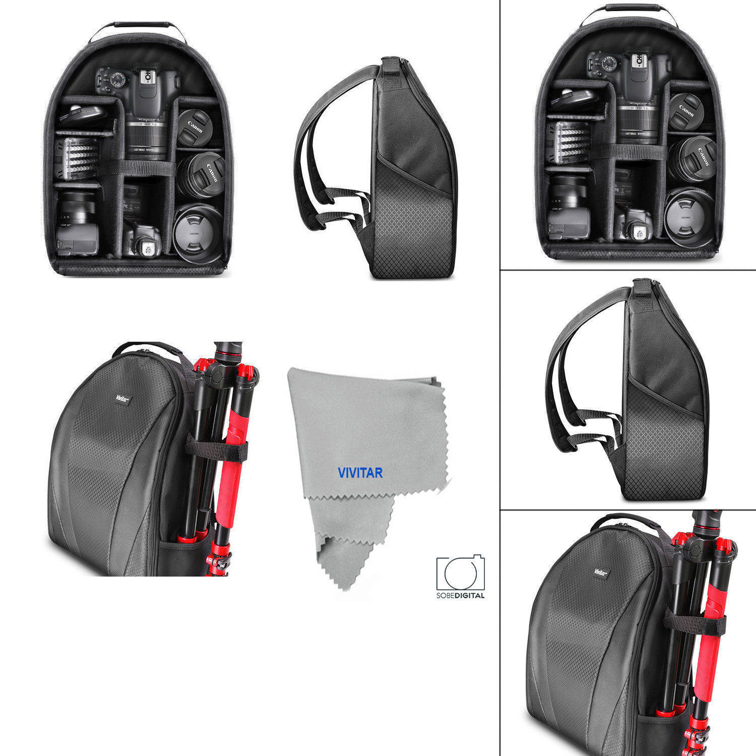 LARGE BACKPACK CARRYING CASE FOR CANON REBEL EOS 1100D 1000D