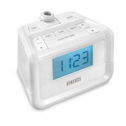 Homedics Soundspa Projection Digital FM Clock Dual Alarm Radio NEW