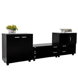 Living Room Mobile 3 Pcs Trio Furniture Set Tv Cabinet