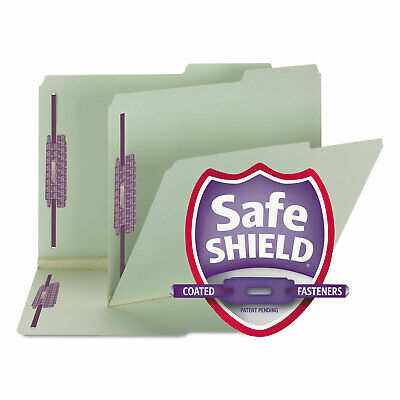 Smead Two Inch Expansion Fastener Folder 25 Tab Letter Gray Green 25box 14920