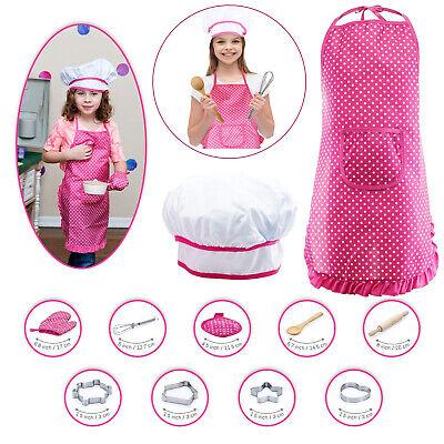 Kinder Chef Kostüm, Kinder Kochschürze 11pcs Schürzen-Set mit Kochmütze - Koch Schürze Kostüm