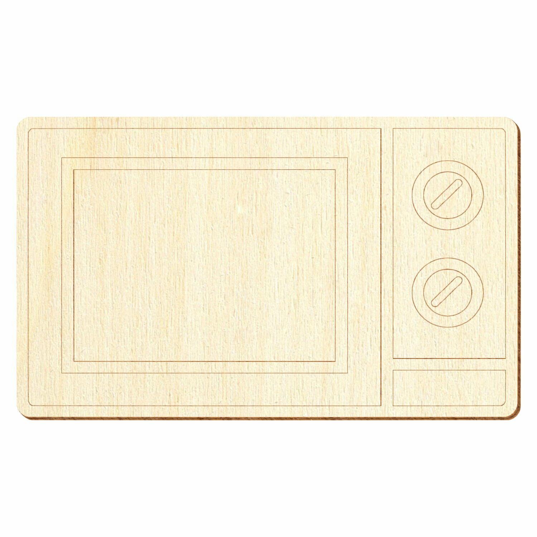 Holz Mikrowelle - Deko Basteln 5-50cm
