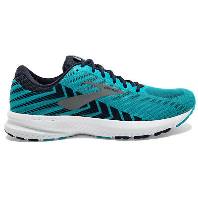 BROOKS LAUNCH 6 BLUE MENS NEUTRAL CUSHION ROAD RUNNING GYM TRAINERS SHOES 8 9 10