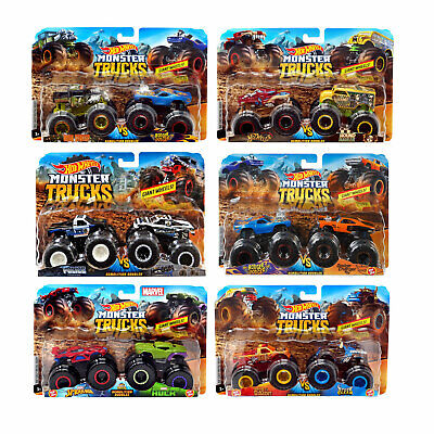 Hot Wheels Monster Trucks 1:64 Demolition Doubles 2-Pack *Choose Your Favourite