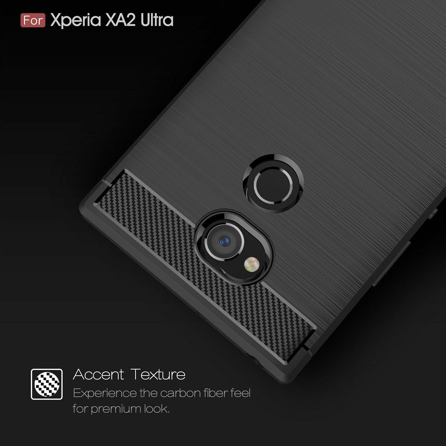 Shockproof Armor Carbon Fiber Hybrid Brush Case Cover For Sony Xperia Xa2 Ultra Ebay