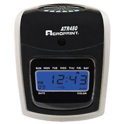 Acroprint ATR480 Time Clock Bundle LCD Automatic White/Charcoal 010285001