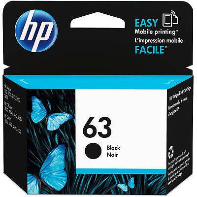 HP Genuine 63 Black Single Unit Ink Cartridge in Retail Box 2018