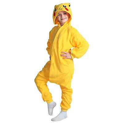 Kids Pikachu Pajamas with Hood Warm Sleepwear - Kid Pjs