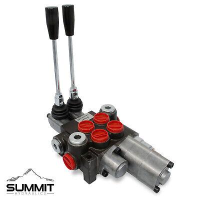 Monoblock Hydraulic Directional Control Valve 2 Spool W Single Float Detent
