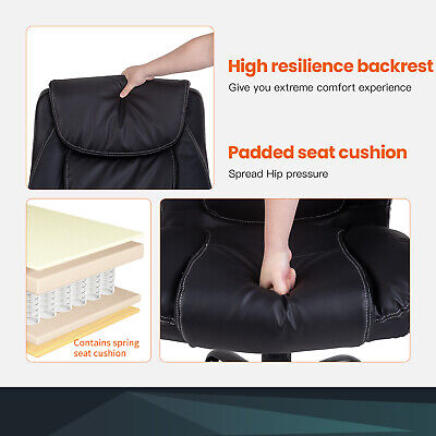 Office Chairs for Heavy People Big and Tall 500lbs Wide Seat  PU Leather Business & Industrial