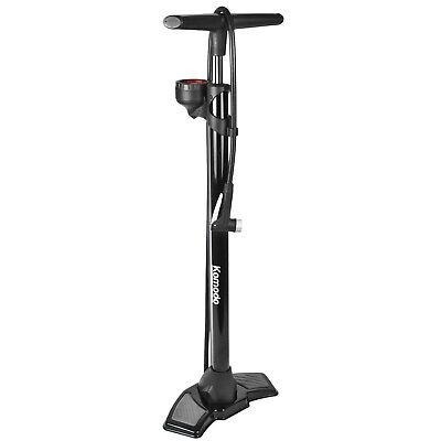 Bicycle Floor Pump with PSI BAR Pressure Gauge Bike Cycling Kit Tyre Inflation