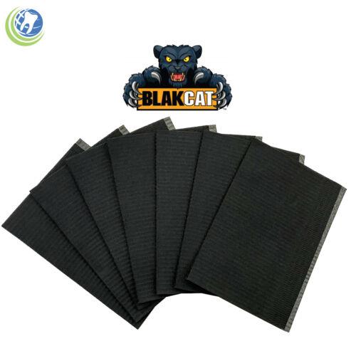 50/BAG DENTAL DISPOSABLE BLACK BIBS TATTOO PIERCING SURGICAL MEDICAL ABSORBENT