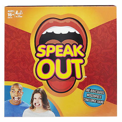 2017 version Funny Speak Out Board Game Mouthguard Challenge Game Christmas Gift