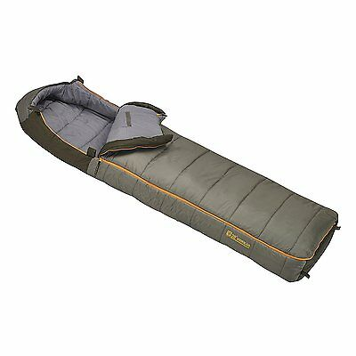 Slumberjack Borderland 20 Degree Temp Rated Dual Zipper Long Sleeping Bag, Green