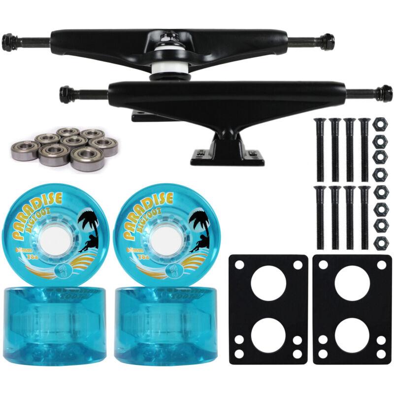 LONGBOARD Trucks/Wheels/Bearings BLACK 6.0 + BIGFOOT 65MM ISLANDERS BLUE