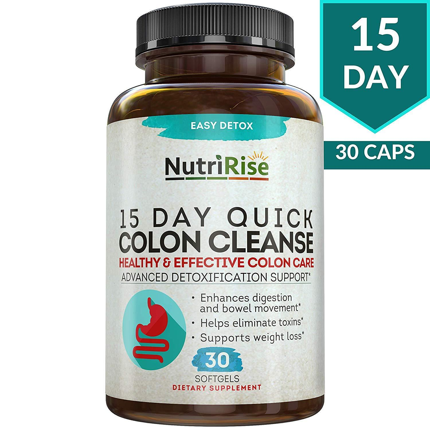 Colon Cleanser Detox for Weight Loss 30 Detox Pills 15 Day F