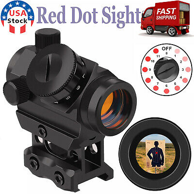 2 MOA Red Dot Sight Tactical Micro Reflex Gun Rifle Sight Scope with Rail Mount