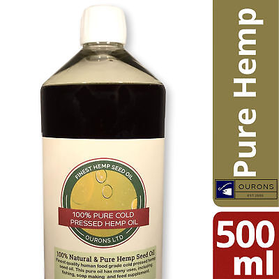 500ml 100% Pure Hemp Seed Oil for Carp Fishing Quality Natural Oil