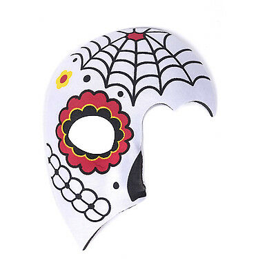 Women's Day Of The Dead Halloween Sugar Skull Half Face Eye Mask - - Half Sugar Skull Face Halloween