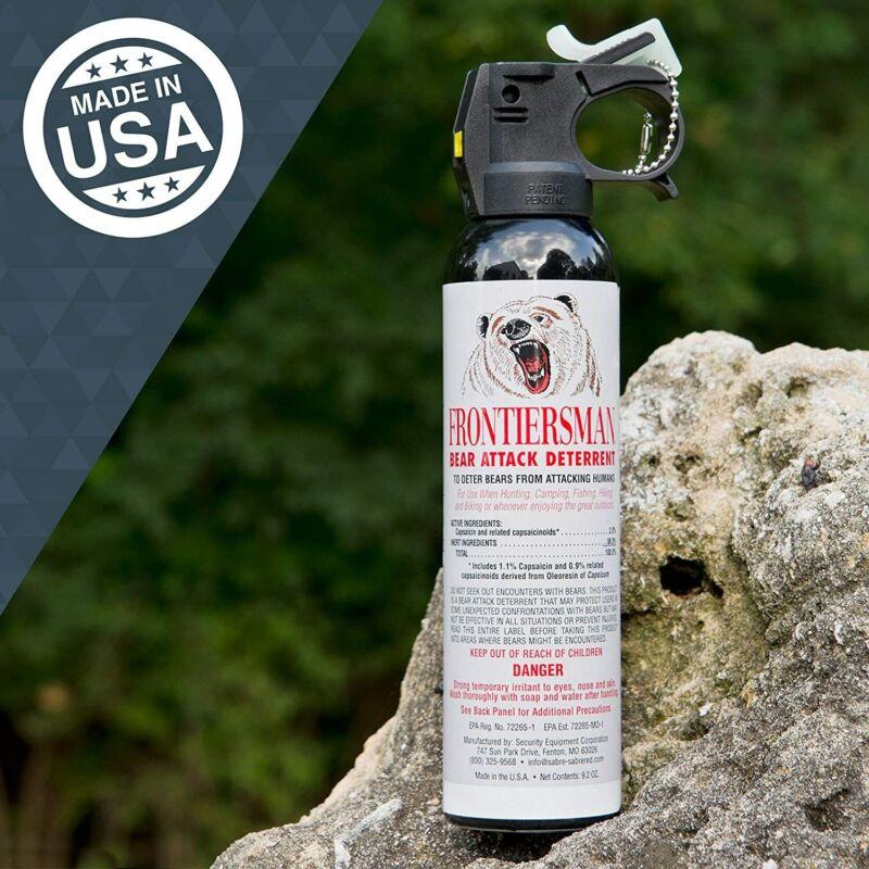 Sabre 9.2oz Frontiersman  Bear Attack Deterrent Defense Pepper Spray EXP 05/2024