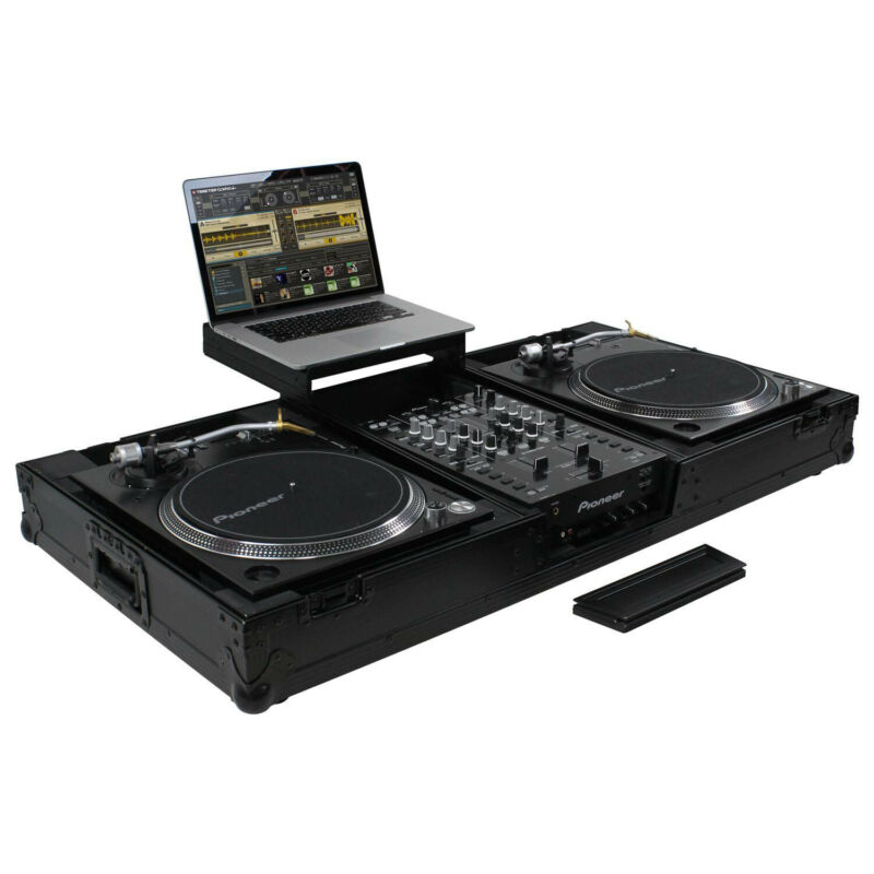 Odyssey FZGSLBM10WRBL DJ Case for 10″ Format DJ Mixer and Two Turntables - Black