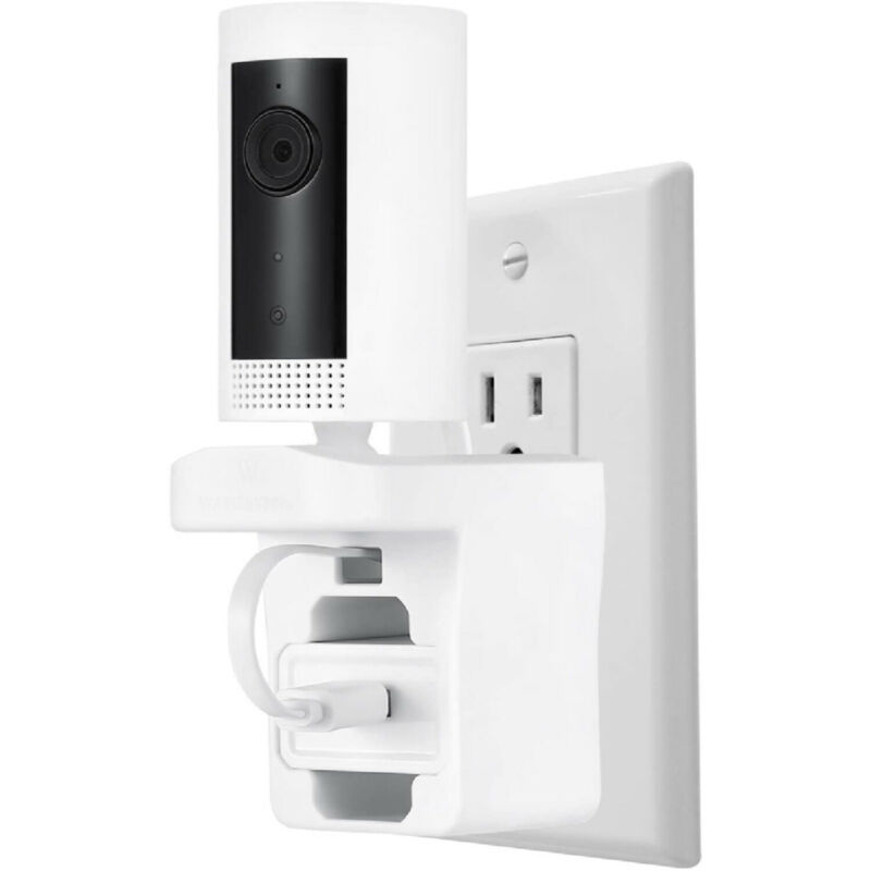 Ring Indoor Cam AC Outlet Wall Mount Plug Cradle Socket Home Security Camera