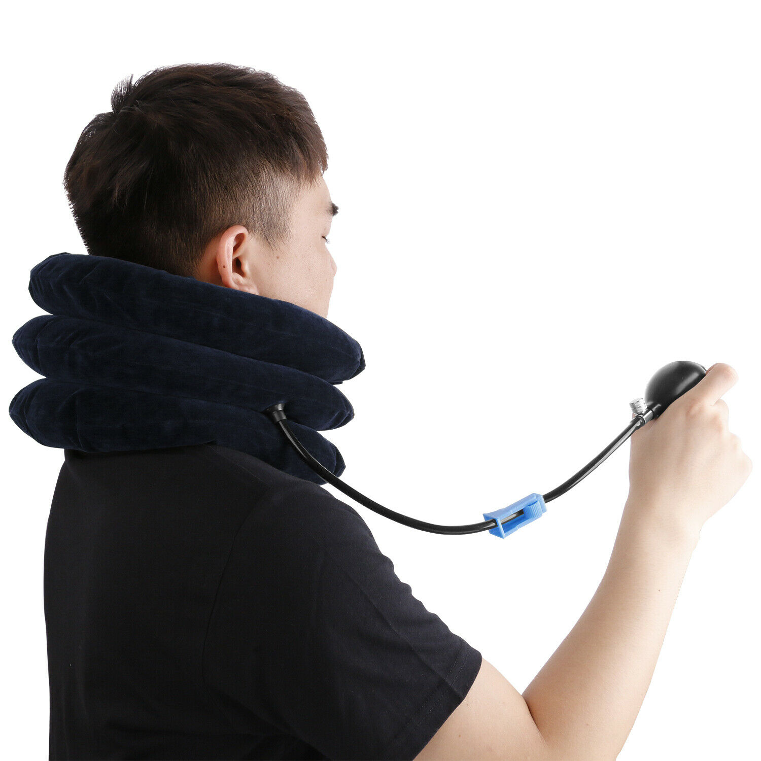 Cervical Neck Traction Device Collar Brace Support Pain Relife Stretcher Therapy Health & Beauty