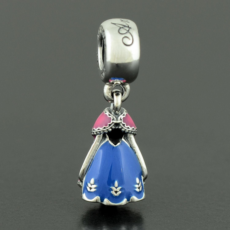 Authentic Pandora S925 Disney, Anna s Dress Dangle Charm, Mixed Enl 791591ENMX - $13.78