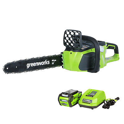 GreenworksG-MAX 40V 16 in. Cordless Brushless Chainsaw with 4Ah Battery and Char