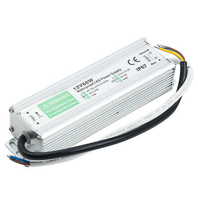 Waterproof Ip67 Led Driver Power Supply Transformer 240v Dc12v 60w For Led Strip