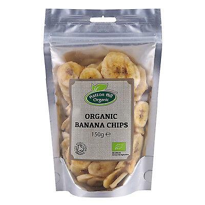(Organic Dried Banana Chips 150g Certified Organic)