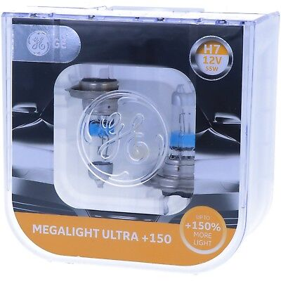 H7 GE Lighting Megalight Ultra 150% mehr Licht auf der Strasse Maximale Leistung 250 Night Vision