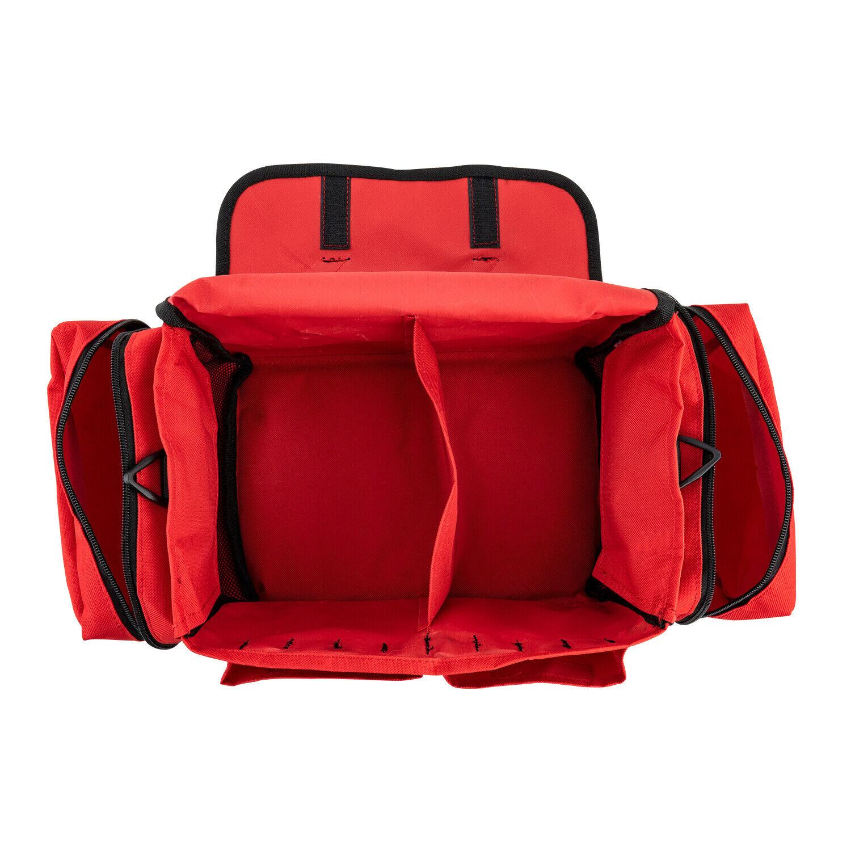 NEW LINE2DESIGN FIRST AID BAG - MEDICAL SUPPLIES TRAUMA FIRST RESPONDER BAG - RED