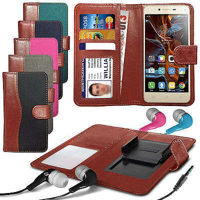 For HTC One (E8) CDMA - Fabric Mix Clip Wallet Case & Earphone ()