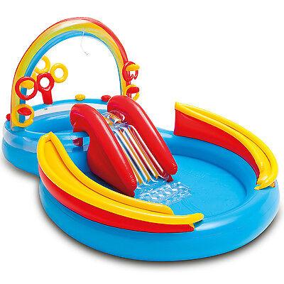 Intex Pool mit Rutsche Planschbecken für Kinder Wasserrutsche Kinderpool Baby