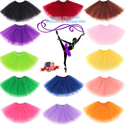 Girls tutu Ballet Dance Dress Wear Party skirt One Size for Kids Custume US - Skirts For Kids