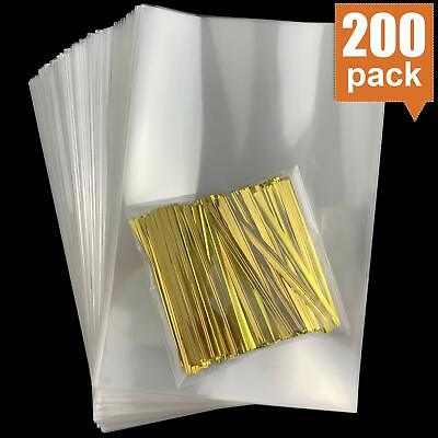 Cellophane Goody Bags 200 PCS Clear Cello Treat Bags Party Favor Bags